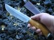 Нож РН-12 (М390, стаб.карельская береза, мельхиор)