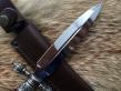 Кинжал эксклюзивный (Elmax, резная рукоять из граба, мельхиор)