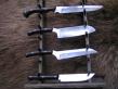 Цельнометаллический кухонный набор из 4-ех ножей