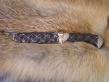 Нож Звездопад (Мозаичный дамаск с никелем, граб, инкрустация, деревянные ножны)