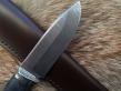 Нож Малый 3 (Дамаск, Мельхиор, Художственное травление.