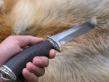 Нож Кабан (110х18, граб, мельхиор)