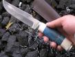 Нож Морской охотник (Булат, сборная рукоять,мельхиор)
