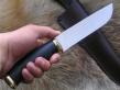 Нож Клык 1 (х12мф, стаб карельская береза, латунь)