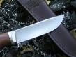 Нож Соболь (М390, яблоня, мельхиор)