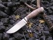 Нож Вепрь 2 (Elmax, стабилизированная карельская береза, мельхиор)