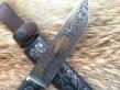 Нож Кабан (М390, граб, деревянные ножны, инкрустация)