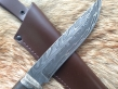 Нож Никель (Дамаск с никелем, стаб. карельская береза, мельхиор, инкрустация)