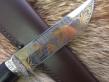 Нож Медведь 1 (Elmax, граб, мельхиор, инкрустация)