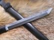 Нож Танто 1 (9хс, граб, деревянные ножны)