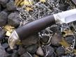 Нож - Сокол (дамасская сталь, граб)