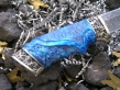 Нож Авторский 1 (Дамаск, полимерный композит, мельхиор)