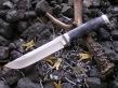 Нож Боец (М390, стаб.карельская береза, мельхиор)