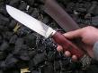 Нож Орел 2 (х12мф, стаб. карельская береза, мельхиор)