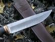 Нож Дамаск 1 (Дамаск, граб, бронза)