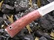 Нож НК-9 (Elmax, стаб. карельская береза, мельхиор)