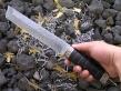 Нож Танто (Дамаск, граб, мельхиор)