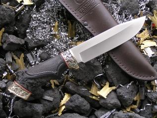 Нож Легион (Elmax, резная рукоять из граба, мельхиор)