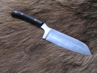 Нож кухонный 1 (х12мф,граб,цельнометаллический)