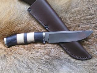 Нож Кречет 1 (М390, наборная рукоять, мельхиор)
