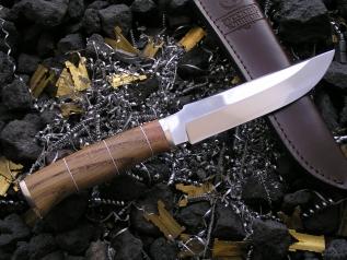 Нож Хищник 2 (ХВ5, дуб, мельхиор)