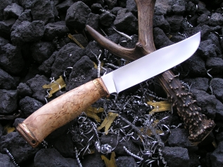 Нож Кабан 3 (Elmax, карельская береза, бронза)