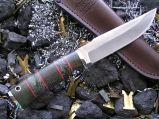 Нож РН-7 (М390, наборная рукоять, мельхиор)