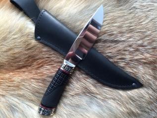 Нож Воин 1 (Elmax, резная рукоять из граба, мельхиор)