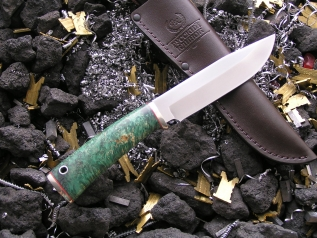 Нож НК-2 (Elmax, кап клёна, мельхиор)