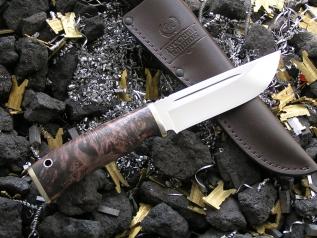 Нож АН-2 (ХВ5, кап клёна, мельхиор)