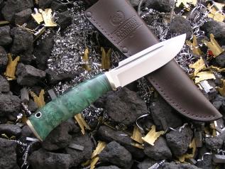 Нож НК-10 (Elmax, кап клёна, мельхиор)