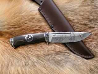 Нож БМВ (Vanadis10, стабилизированная карельская берез),