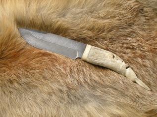 Нож Эксклюзивный (Дамаск, рог лося)