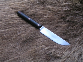 Нож кухонный 4 (х12мф,граб,цельнометаллический)