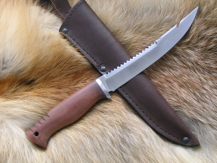 Нож Рыболов 3 (Булат, кап клена, дюраль)