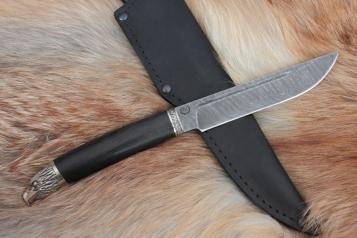 Нож - Ястреб (дамасская сталь, граб)