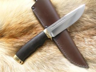 Нож Кабан (Elmax,граб, латунь)