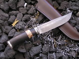 Нож Кречет (Булат, сборная рукоять, мельхиор)