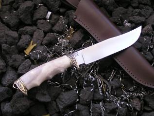 Нож Кабан 2 (Elmax, рог, мельхиор)