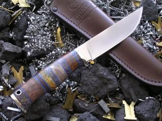 Нож РН-4 (М390, наборная рукоять, мельхиор)