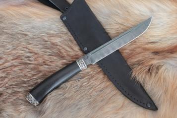 Нож - Игла 2 (дамасская сталь, граб)