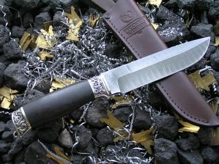 Нож Боярин (дамаск, граб, мельхиор)