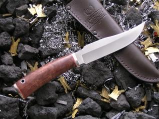 Нож НК-8 (Elmax, стаб. карельская береза, мельхиор)