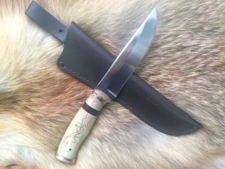 Нож Охотник 2 (М390, Наборная рукоять, бронза)