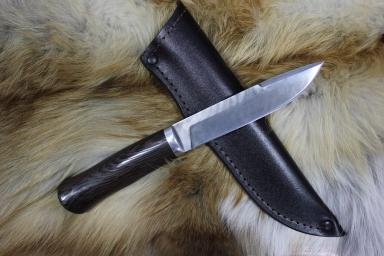 Нож - Степной малый (дамаск, венге)