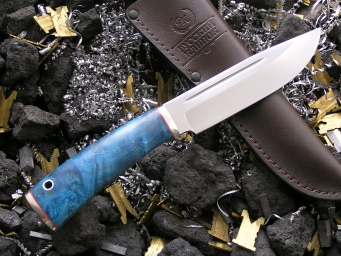 Нож НК-3 (Elmax, кап клёна мельхиор)
