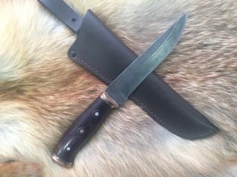 Нож Ламинат 1 (Ламинат, стаб. карельская береза, бронза)