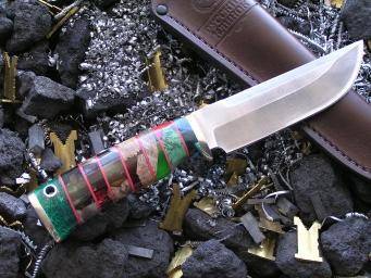 Нож OH-5 (Vanadis10, наборная рукоять, мельхиор)