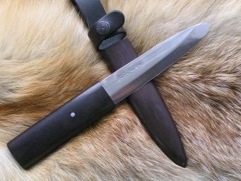 Нож Японский Эксклюзивный (ZA-18, граб, деревянные ножны)