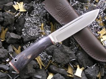 Нож ОН-10 (Vanadis10, стаб. карельская береза, мельхиор)